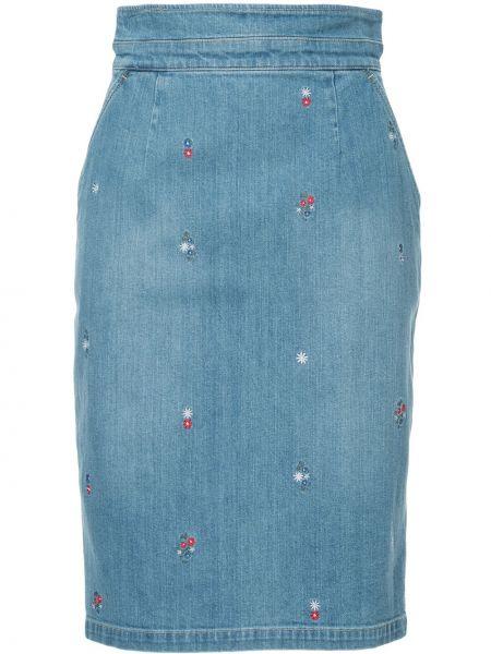 Синяя джинсовая юбка с вышивкой Guild Prime