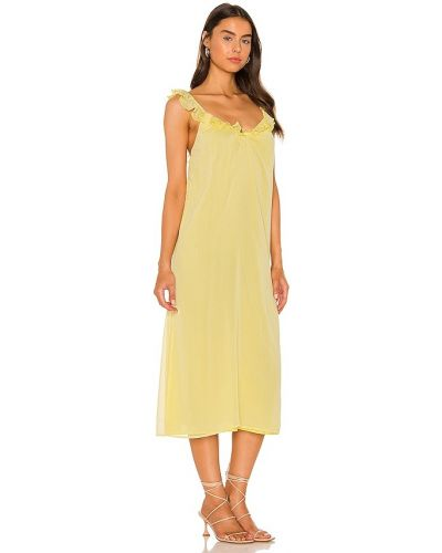 Żółta sukienka elegancka Majorelle
