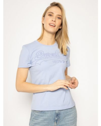 Fioletowy t-shirt Superdry