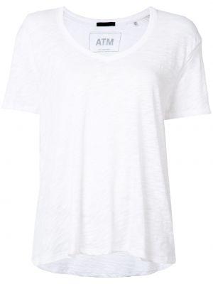 Biały t-shirt bawełniany Atm Anthony Thomas Melillo