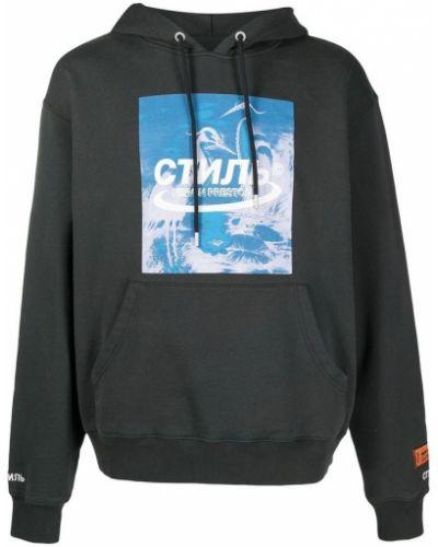 Czarny sweter z kapturem Heron Preston