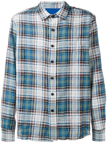 Niebieska klasyczna koszula bawełniana z długimi rękawami Simon Miller