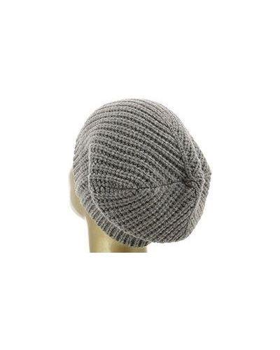 Бежевая вязаная шапка Peserico