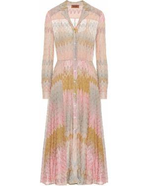 Платье миди в полоску вязаное Missoni