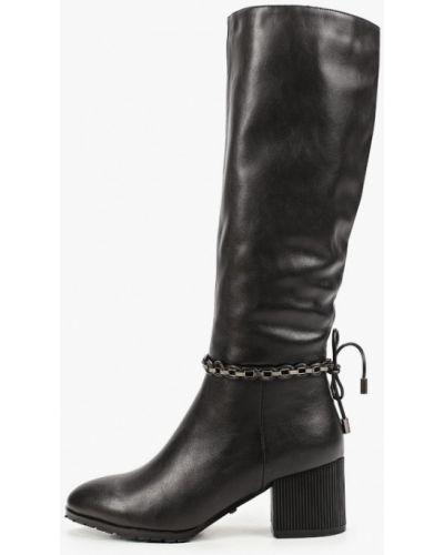 Черные кожаные сапоги Ridlstep