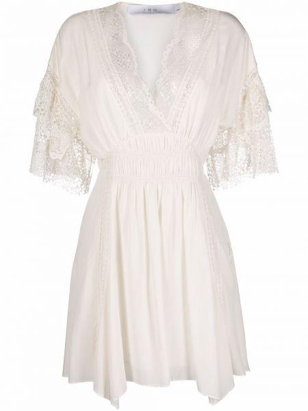 Кружевное платье мини - белое Iro