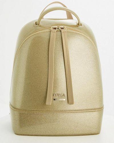 Рюкзак золотого цвета Furla