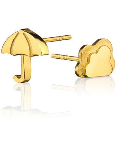 Серьги золотого цвета La Tienne