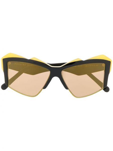 Czarne okulary oversize Philipp Plein