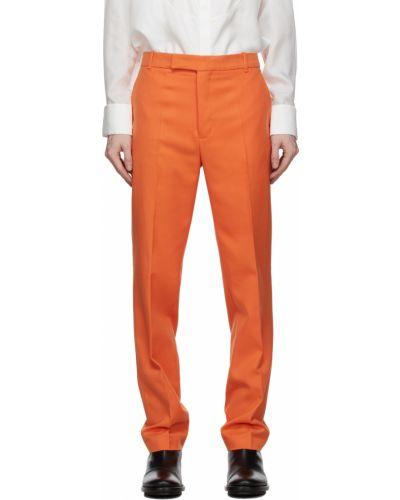 Spodnie z wiskozy - pomarańczowe Palomo Spain