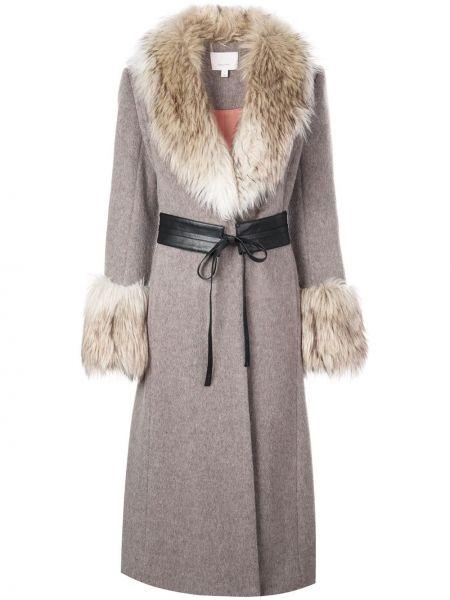 Длинное пальто с капюшоном Cinq A Sept