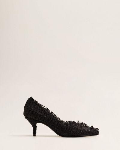 Туфли на высоком каблуке с острым носком кожаные Mango