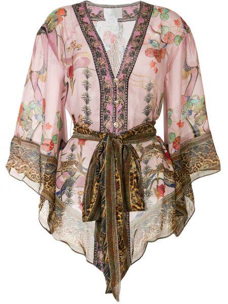 Kimono z rękawami jedwab Camilla