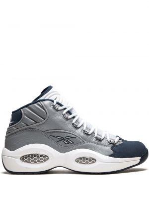 Biały wysoki sneakersy skórzany Reebok