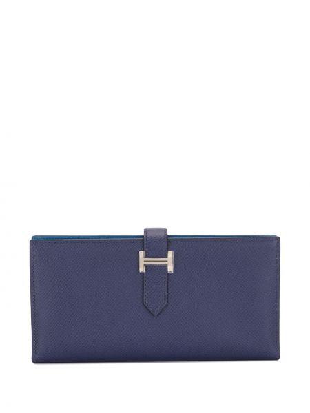 Niebieski portfel skórzany Hermes