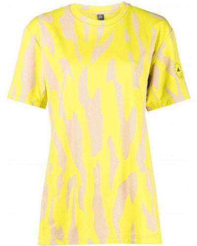 Прямая желтая базовая футболка Adidas By Stella Mccartney