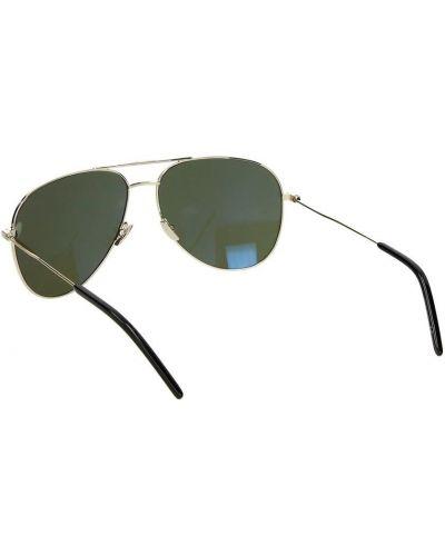 Żółte okulary materiałowe Saint Laurent