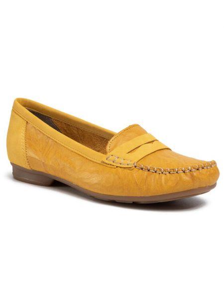 Mokasyny - żółte Rieker
