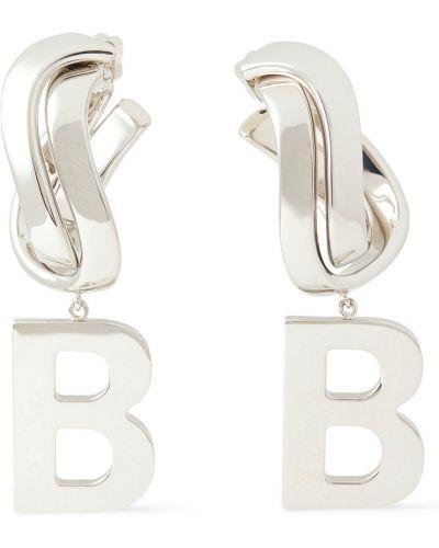 Серебряные серьги-гвоздики с бабочкой Balenciaga