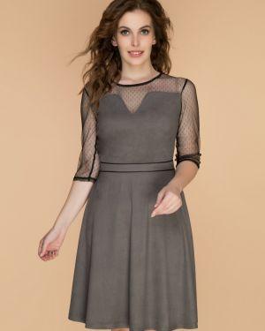 Вечернее платье серое миди Belluche