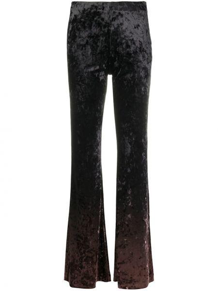 Spodni brązowy z wysokim stanem rozbłysnął spodnie Acne Studios