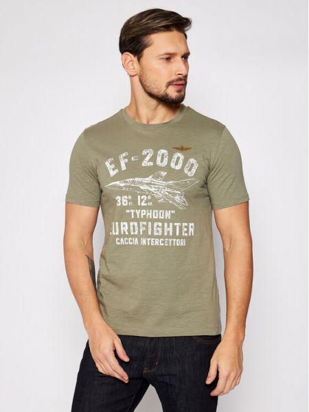 Zielona t-shirt Aeronautica Militare