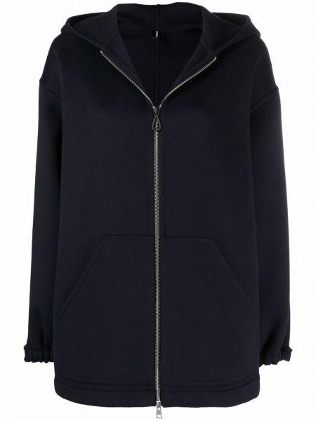 Синее пальто с капюшоном PaltÒ