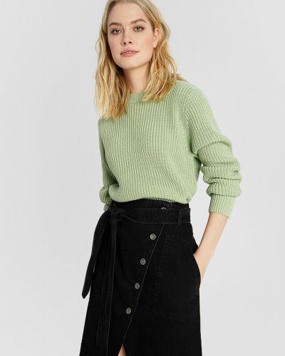 Джинсовая юбка миди с накладными карманами на пуговицах O'stin