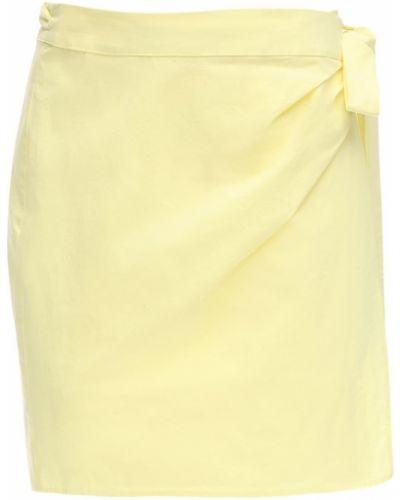 Żółta spódnica mini z wysokim stanem kopertowa Ciao Lucia