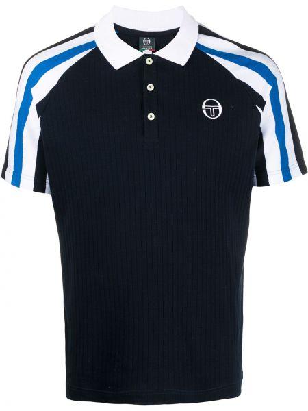 Niebieska klasyczna koszula krótki rękaw bawełniana Sergio Tacchini