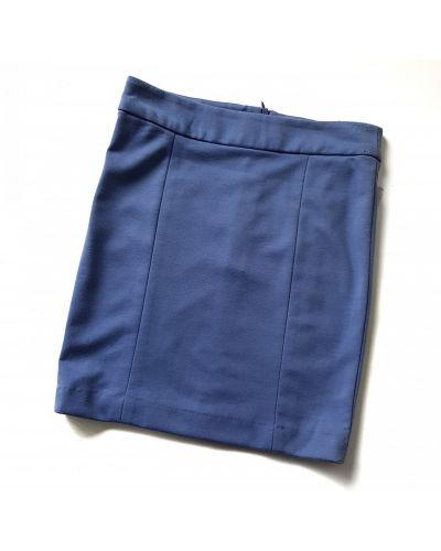 Голубая юбка мини короткая House