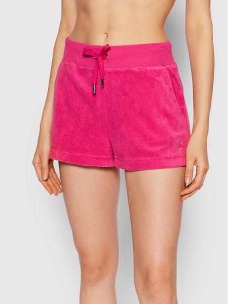 Różowe szorty materiałowe Juicy Couture