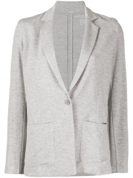 Однобортный серый пиджак на пуговицах Majestic Filatures