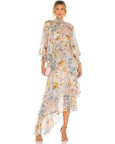 Желтое свободное деловое платье Elliatt