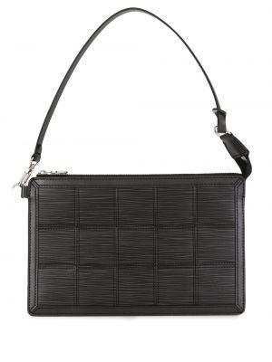 Czarna kopertówka skórzana pikowana Louis Vuitton