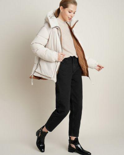 Бежевая куртка с капюшоном на молнии Ostin