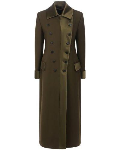 Шерстяное пальто с воротником на пуговицах Tom Ford