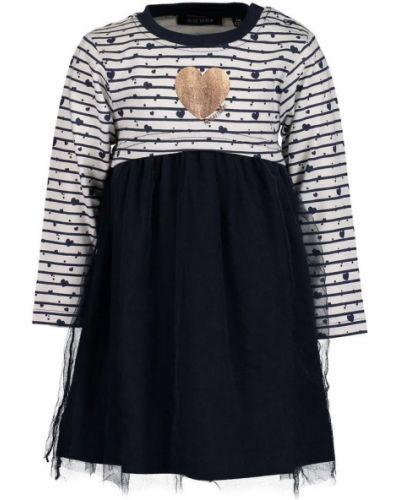 Платье с рукавами однотонное с принтом Blue Seven
