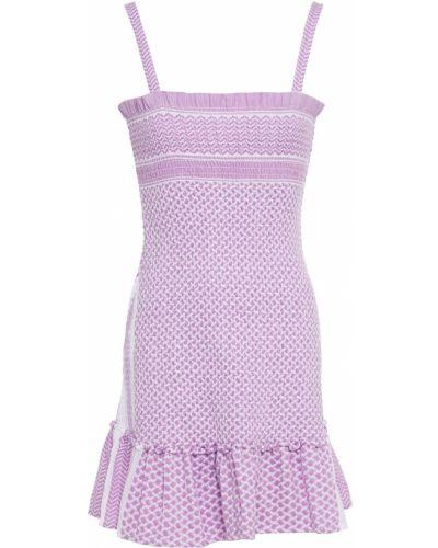 Хлопковое платье мини - сиреневое Cecilie Copenhagen