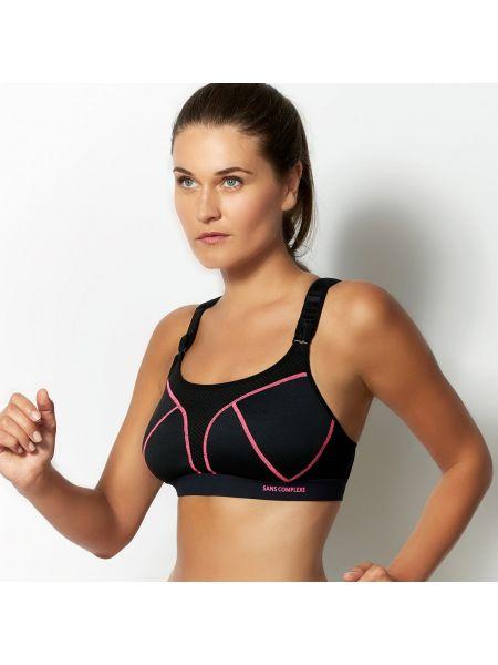 Спортивный облегающий розовый открытый спортивный бюстгальтер Sans Complexe