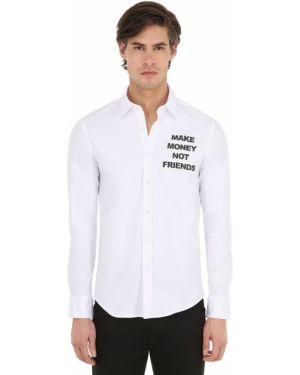 Klasyczna biała klasyczna koszula bawełniana Make Money Not Friends