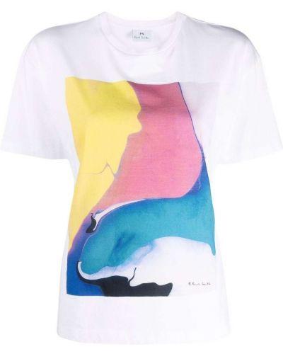 Белая футболка с принтом Ps Paul Smith