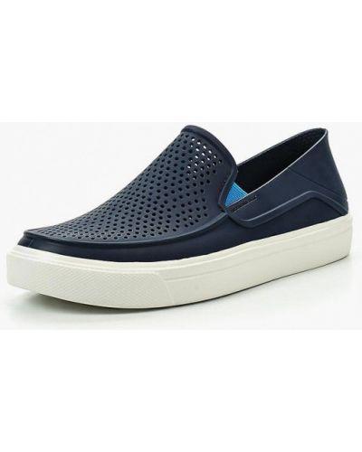 Синие слипоны Crocs