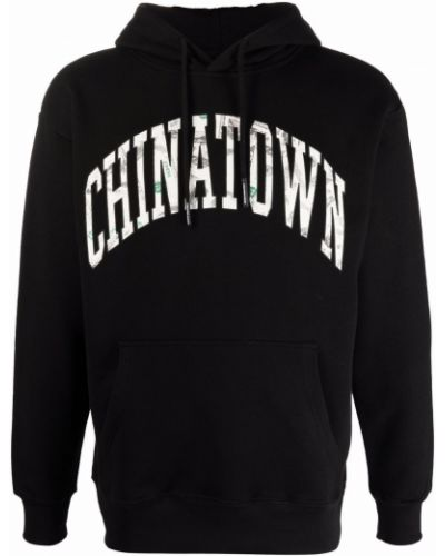 Худи длинное - черное Chinatown Market