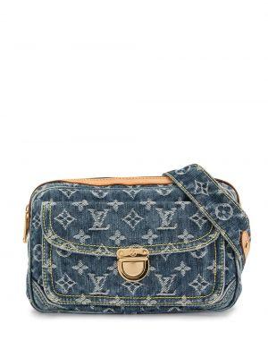 Кожаная поясная сумка винтажная на молнии Louis Vuitton