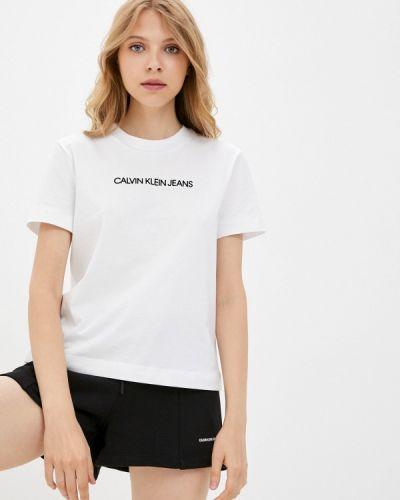 Белая джинсовая футболка Calvin Klein Jeans