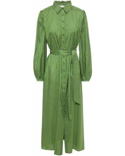 Zielona sukienka zapinane na guziki Bytimo