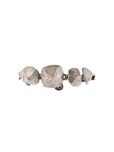 Bransoletka łańcuch srebrna Hermes