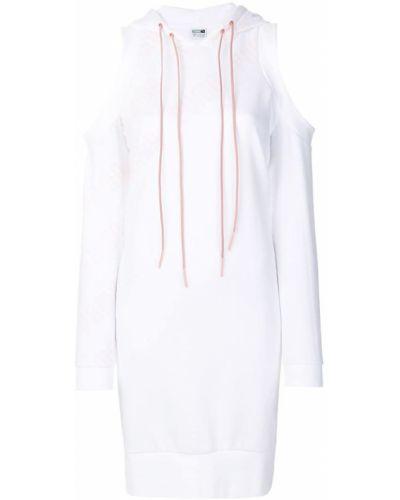 Белое платье с капюшоном Puma