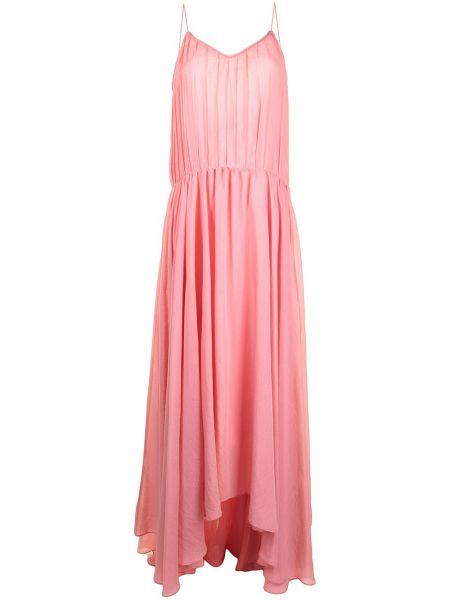 Открытое розовое платье с открытой спиной Bambah